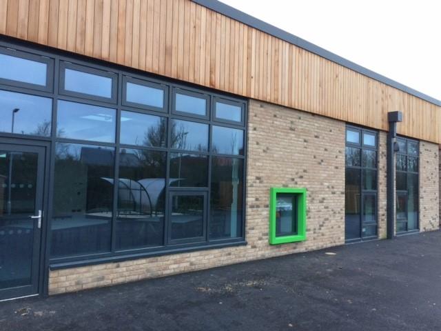 Coloured Aluminium Windows and Doors at Green Ridge Academy
