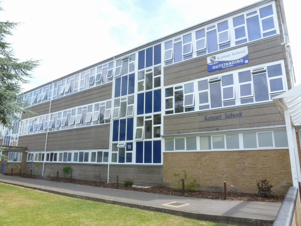 Replacement Aluminium Windows & Curtain Wall at Kennet School, Abingdon, Oxon